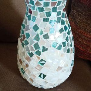 Mosaic vase or candle holder